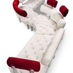 Модульный диван Highland, декорированный стежкой-капитоне с кристаллами вместо пуговиц, BRETZ