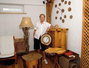 Михаил Задорнов в загородном доме