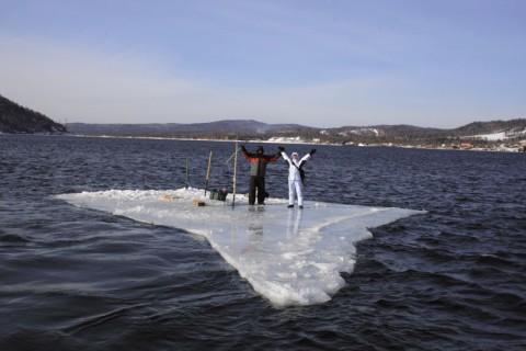 сплав на льдине