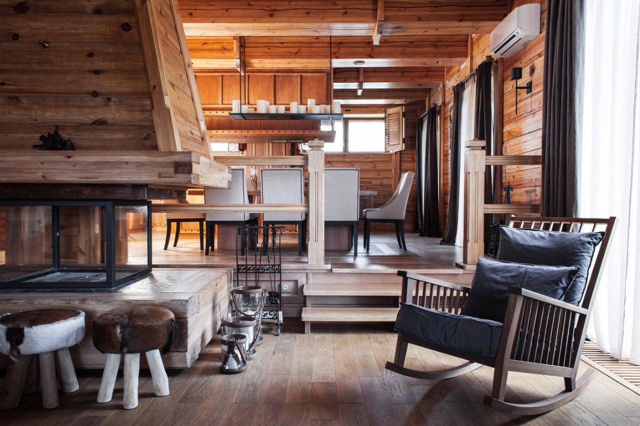 72 работ дизайнеров интерьера - студия, шале, кантри