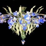 Blue iris plafonnier FIO-5-12-B