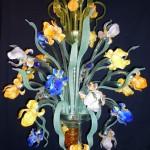 Coloured iris chandelier IMP-1-24-C
