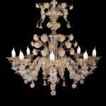 Golden Labia chandelier VEN-15-8