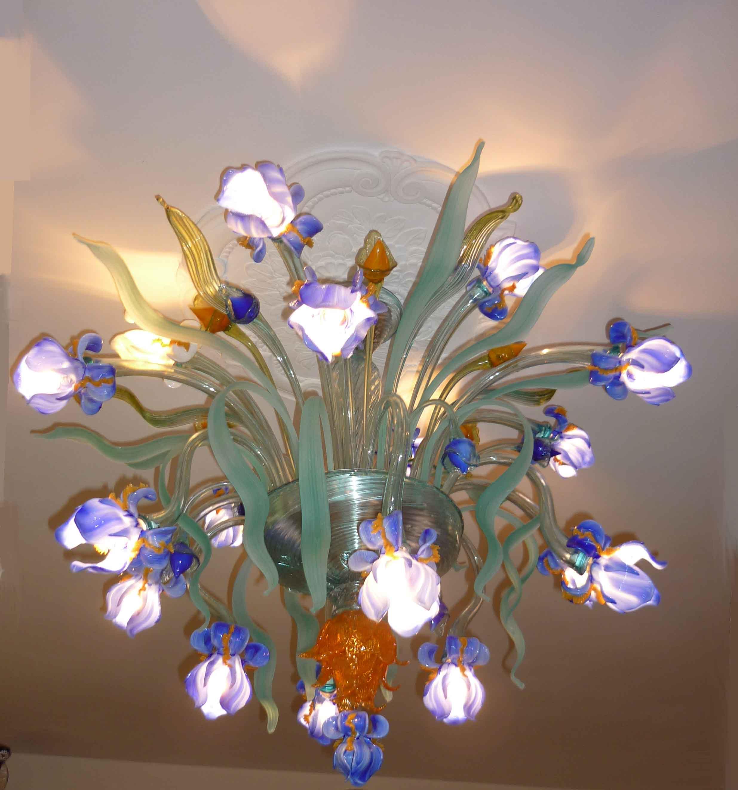 Iris Van Gogh plafonnier IMP-1-16-P with light