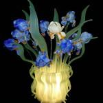 Iris vase lamp LAM-6