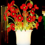 Poppies vase lamp LAM-3