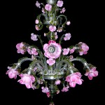 Rosen garden chandelier FLO-2-9-A BLACK