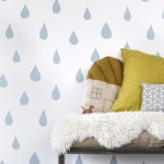 Hibou Home_Raindrops wallpaper_HH01103_Ice Blue_c