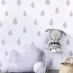 Hibou Home_Raindrops wallpaper_HH01104_Powder Pink_c