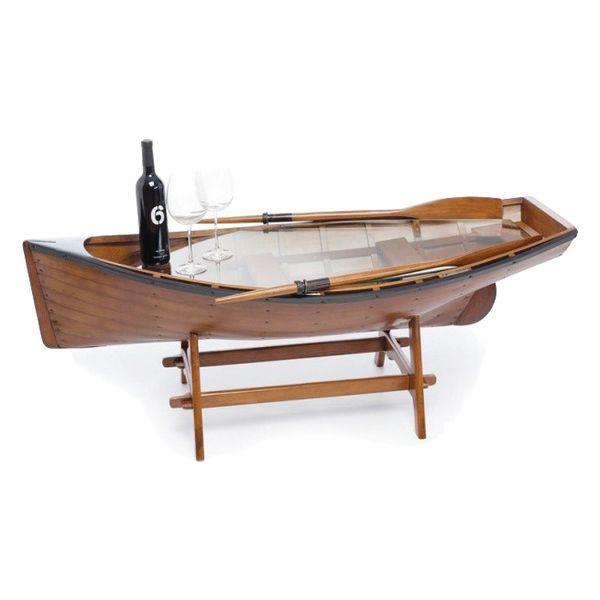 Стол, стилизованный под лодку www.islandgifts.ru